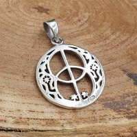 """British jewelry pendant """"CHALICE WELL"""" made of 925 sterling silver"""