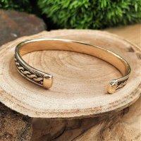 """Viking bracelet """"BÓTHILDR"""" made of bronze"""