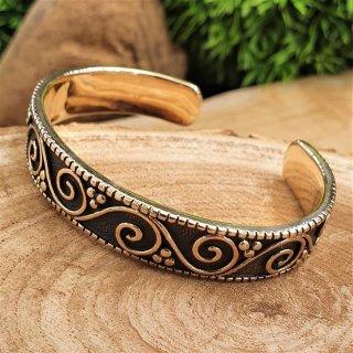 "Medieval bracelet ""BARBARA"" with spiral pattern made of bronze"