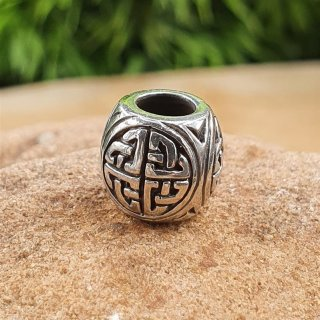 Celtic knot beard bead ÁED made of 925 sterling silver