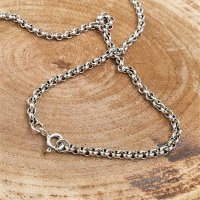"""Viking necklace """"RAGNOR"""" vintage chain - handmade from 925 sterling silver"""
