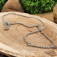 """Viking necklace """"RAGNOR"""" vintage chain - handmade from 925 sterling silver 47 cm"""