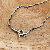 """Wikinger Halskette """"CYNWRIG"""" gedreht - Handgearbeitet aus 925 Sterling Silber 55 cm"""