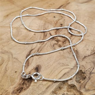 Ladies chain with fine, small beads made of 925 sterling silver