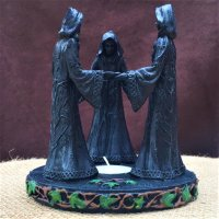 Pagan Magic Circle Triple Moon Oil Burner - 16cm