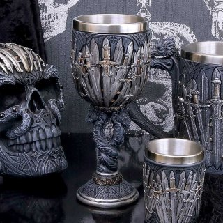 Medieval Sword Dragon Wine Goblet - 17,5cm