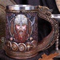 Drakkar Viking Dragon Boat Tankard - 15cm