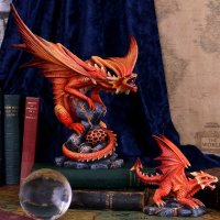 Adult Fire Dragon By Anne Stokes 24.5cm