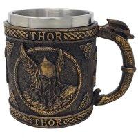 Wikinger Krug - Nordischer Gott Thor