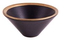 Räucherschale schwarz/gold Keramik