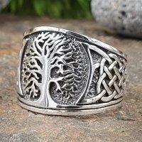 Baum des Lebens Ring verziert mit keltischen Knoten aus...