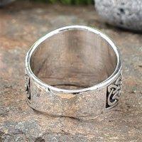 Baum des Lebens Ring verziert mit keltischen Knoten aus 925 Sterling Silber
