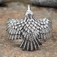 Raben Ring aus 925 Sterling Silber