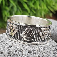 Valknut Ring aus 925 Sterling Silber