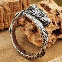 Jörmungandr Ring aus 925 Sterling Silber