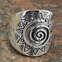 Keltische Spirale Ring aus 925 Sterling Silber