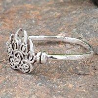 Wolfstatze Ring aus 925 Sterling Silber