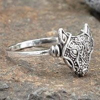 Fenris Wolf Ring aus 925 Sterling Silber
