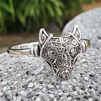Fenris Wolf Ring aus 925 Sterling Silber
