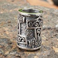 """Wikinger Thorshammer Bartperle """"KIMI"""" aus 925 Sterling Silber"""