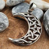 Pentagramm im Mond Schmuckanhänger aus 925 Sterling...