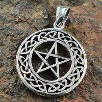 """Pentagramm mit Keltischen Knoten """"VENIA"""" aus..."""