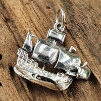 Segelschiff Anhänger aus 925 Sterling Silber