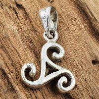 Triskele Schmuck Amulett aus 925 Sterling Silber