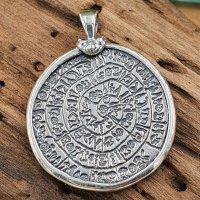 Diskos von Phaistos aus 925 Sterling Silber