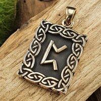 Runen Anhänger (Pertho) aus Bronze