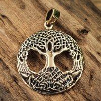 Weltenbaum Schmuckanhänger aus Bronze