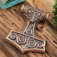 Thors Hammer Schmuckanhänger aus Bronze