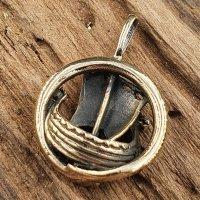 Wikingerschiff Schmuckanhänger aus Bronze
