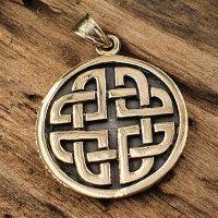 Keltische Knoten Anhänger aus Bronze