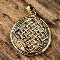 Keltische Knoten Schmuck Armulett aus Bronze