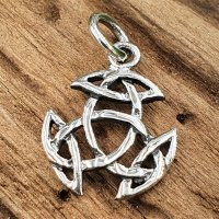 Keltische Knoten Anhänger aus 925 Sterling Silber