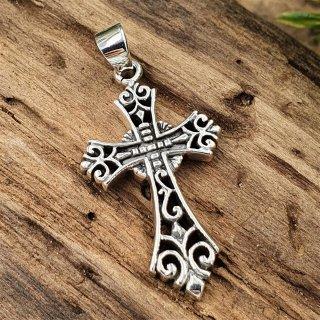 Mittelalterliches Kreuz Anhänger aus 925 Sterling Silber