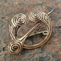 """Fibel Brosche """"ALVA"""" aus Bronze"""