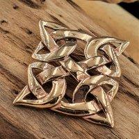 """Keltische Knoten Brosche """"HULDA"""" aus Bronze"""