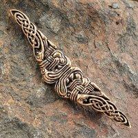 """Keltische Wikinger Brosche """"FJELL"""" aus Bronze"""