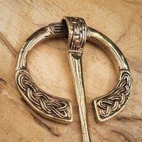 """Keltische Wikinger Fibel """"LEIFR"""" aus Bronze"""