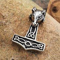 Thors Hammer Ketten Anhänger aus 925 Sterling Silber