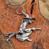 Hexe Schmuckanhänger aus 925 Sterling Silber