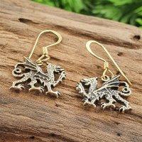 "Drachen Ohrhänger ""VERMUNDR"" aus Bronze"