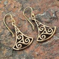 Triskelen Ohrhänger aus Bronze