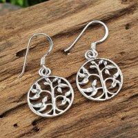 Weltenbaum Ohrhänger aus 925 Sterling Silber