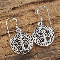 Lebensbaum Ohrhänger aus 925 Sterling Silber