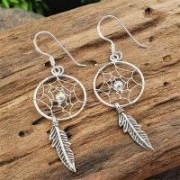 Traumfänger Ohrring aus 925 Sterling Silber