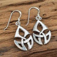 Ohrring mit Keltischen Knoten aus 925 Sterling Silber