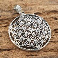 Blume des Lebens Anhänger aus 925 Sterling Silber